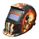Hellfire patrón solar auto oscurecimiento casco de soldadura máscara de soldadura arc mig tig moliendo con 2 lente