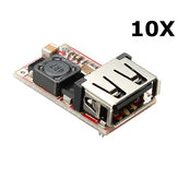 10Pcs DC-DC Buck Module 6-24V 12V/24V to 5V 3A USB Step Down Power Supply Charger Efficiency 97.5%
