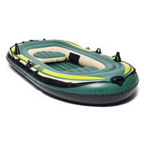 3 Person Inflatable Boat Set Raft Air Canoe Kayak Dinghy Fishing Tender Rafting Water Outdoor Sport