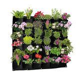 36ポケット壁掛けプランティングバッググリーン成長バッグプランター垂直ガーデン野菜リビングガーデンバッグ家庭用品