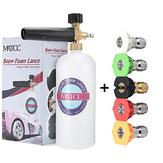 MATCC Lanza de espuma de nieve de botella de cañón de espuma ajustable con 1/4 pulgadas rápida Conector