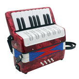 Professionele 17 Key Mini Accordeon Educatief Muziekinstrument Toy Cadans Band voor Kinderen Kinderen Volwassenen Gift