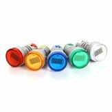 NIN® AD101-22VM 20-500V 22MM Mini LED Digital Voltmeter 5 Color Available  Circle Panel Current Meter Tester Pilot Light Indicator Display