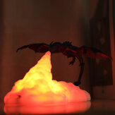 3D Print LED Fire Dragon Ice Dragon Lamps Night Light Rechargeable Soft Light for Bedroom Living Room Camping