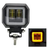 12 V 24 V 6000 K 3 Polegadas à Prova D 'Água Quadrado LED Barra de Luz Holofotes Portáteis Para Motocicleta Caminhão Dirigindo Barco Carro