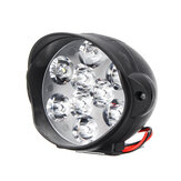12V-80V 1800LM 9 LED Work Spot Light Headlight Waterproof 6500k White Super Bright Fog Lamp Scooter Spotlight For Motorcycle ATV UTV Tricycle