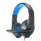 سماعة الألعاب E-622 40 مللي متر وحدة ستيريو صوت محيط 120 درجة قابل للتعديل ميكروفون لاقط كامل 3.5 مللي متر + USB