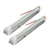 Universal Interior 34cm LED Light Strip Lamp White 2Pcs with ON/OFF Switch for Car Auto Caravan Bus