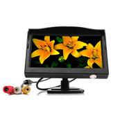 5 Inch TFT LCD Car Rear View Backup Reverse Monitor Parking Night Vision Camera Kit
