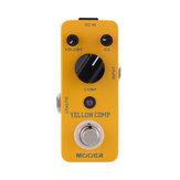 MOOER MCS2 Amarelo Comp Micro Mini Compressor Óptico Pedal de Efeitos de Guitarra para Guitarra Elétrica True Bypass