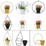 Flower Iron Metal Rack Stand Hang Vase Succulent Plant Shelf Lab Pot Decor