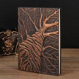 تنقش شجرة الجلود مجلة السفر خمر الحرفية دفتر اليوميات العتيقة