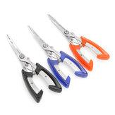 Alicates de pesca de aço inoxidável Plierweiter Scissors linha cortador Gancho Tackle Tool