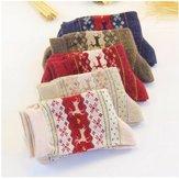Women Thickened Wool Socks Deer Pattern Christmas Stockings