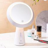 MIUO T03 Espejo cosmético Lámparas de mesa Espejo de maquillaje de alta definición Atenuación continua Carga USB 90 ° Rotación Mesita de noche Luz de noche de