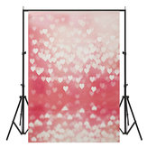 3x5ft Vinyl Heart Birthday Weeding Photography Studio Backdrop Photo Background props