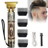 Vintage Cráneo Head USB Electric Cabello Clipper Hombres Oil Head Clipper eléctrico Cabello Clipper Set