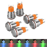 19mm 12V/24V LED On/Off Latching Push Button Switch Self-lock Heavy Duty Metal Switch Waterproof