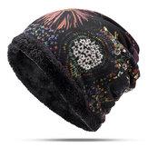 Kadınlar Sıcak Plus Kadife Kalınlaşmak Bere Şapka Yaka Kaşmir Moda Boyama Şapka