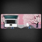 Blumen-Blüte 800 * 300 * 3mm große rutschfeste Overlock-Mausunterlage Gummi-Desktop-Matte