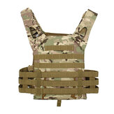 Outdoor Molle System Tactical Vest Ultra-Light Breathable Adjustable Armor Plate Vest with Pouches