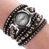 DUOYA Fashion Ladies Folk-Custom Style Armband Watch Rhinestones Strap Elegant Vrouwen Horloge