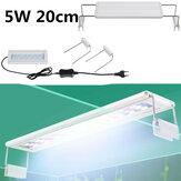 5 واط LED حوض للأسماك ضوء 20 سنتيمتر حوض السمك مشبك قوس ضوء حوض السمك ضوء نبات مائي قابل للتمديد ضوء لخزان أسماك 20-30 سم