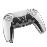 TPU Clear Shell Case Joystick Grip Cover Sleeve For Playstation 5 PS5 Controller
