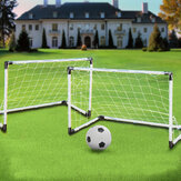 2 Mini Set Football Football Objectif Poteau + Ball + Pompe Enfants Sport En Plein Air Formation