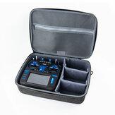 Transmissor de rádio RadioMaster Tecido grande EVA com zíper rígido e proteção para transporte de ombro Caso para transmissor TX16S com alça dobrável