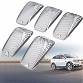 5pcs Smoke Top Lamp Lens Roof Running Light Cab Marker Cover For Ford GMC