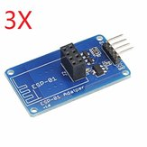 3Pcs Geekcreit ESP8266 Serial Wi-Fi Wireless ESP-01 Adapter Module 3.3V 5V Geekcreit for Arduino - products that work with official Arduino boards
