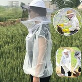 Anti-Bee Clothes Cap Veil Breathable Half Body Beekeeping Protective Suit Tool Anti Bird Net