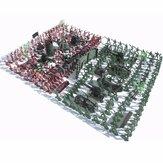 270 قطع جنود الجيش لعبة كيت الجيش الرجال أرقام و الاكسسوارات نموذج لرمل مربع