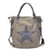 WomenStarCanvasToteHandtassenRetro Schoudertassen Capaciteit Shopping Crossbody Bags