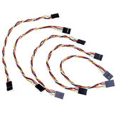 15pcs 4 Pin 20cm 2.54mm Jumper Cable DuPont Wire For  Female To Female
