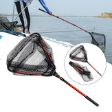 LEO Retractable Folding Fishing Net Freshwater Fishing Scoop Net Fishing Tools