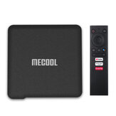 Mecool KM1 S905X3 ATV 4GB DDR رام 32GB EMMC روم أندرويد 10.0 TV Box 2.4G 5G WIFI bluetooth 4.2 Google Certified الدعم 4K YouTube Prime فيديو مساعد جوجل
