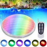 36W RGB LED Control remoto Natación subacuática Piscina Luz Impermeable IP68 incrustada AC / DC12V