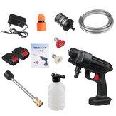 24V/48V 435PSI Akku-Hochdruckreiniger Tragbare Autowaschmaschine Reiniger Wasserspritzpistolen mit 1/2 Batterie