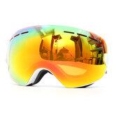 Snowboard Kayak Gözlükleri Anti Sis UV Koruma Çift Lensli Motosiklet Sport Gözlükler Beyaz Çerçeve