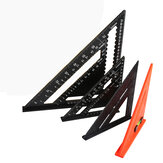 7/12'' Metric Aluminum Alloy Speed Square Triangle Angle Protractor Guide Ruler