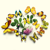 12Pcs 3D Colorful Butterfly Wall Sticker Refrigerador Ímã Home Decor Art Applique