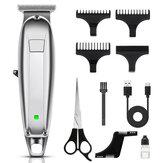 USB Akumulatorowe maszynki do strzyżenia włosów dla mężczyzn Bezprzewodowa maszynka do włosów Cichy elektryczny zestaw do strzyżenia Ultra z grzebieniem do brody
