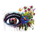 Peinture à l'huile par numéro Kit multicolore fleur yeux bricolage acrylique Pigment peinture par numéros ensemble main artisanat Art fournitures maison bureau décor