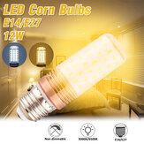 12W E14 E27 LED Corn Light Bulb 3000K/6500K Candelabra Lamp for Home Hotel Indoor AC220V