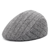 Stripe Dad Casual Middle-Aged Beret Hat