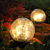 Crackle bollformade LED-sollampor Lawn Light Christmas Outdoor Ground Lamp Garden Garden Decorations Lights