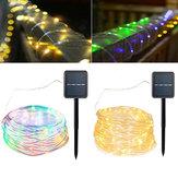 ソーラーパワード120LEDs 8Modesクリスマスのための防水妖精銅ワイヤーロープストリングライト