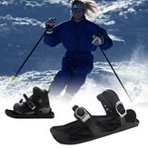 Mini Snow Skiing Shoes Mini Short Skiboard Shoes with Adjustable Bindings Easy Storage Winter Portable Snowboards